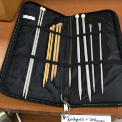 12 Knitting Needles in Case - COLLECTIBLES