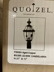 New Wolfers Quoizel NY 9042 AC Aged Copper
