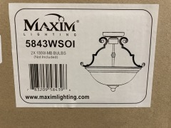 New Wolfers Essentials 2-Light Semi-Flush Mount