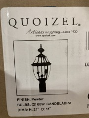 New Wolfers Newbury 2 Light 21 inch Pewter Outdoor Post Lantern
