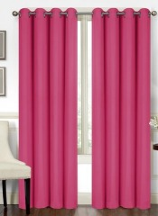 NEW 2 Pc Thermal Blackout Window Curtain- Hot Pink