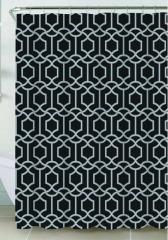 NEW Riverside Shower Curtain- Black Pattern