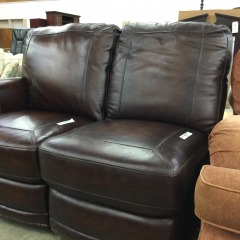 Armless Leather Chair - GENTLY USED FURNITURE