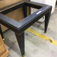 Black and Gold End Table Base (No Glass) - GENTLY USED FURNITURE