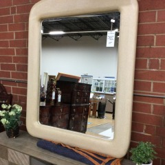 \u2018Marge Carson\u2019 Mirror with Textured Frame - BETTER\/NEW FURNITURE
