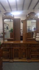 Double Mirror Oak Chest \\w Drawers