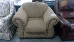 Taupe Corduroy Comfort Chair