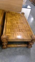 Coffee Table w\/Floral Design Endcaps