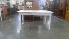 White Accent Table \/w Drawer