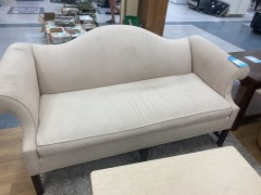 CREAM ARCHED BACK SOFA (AS IS)
