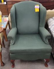 Green Wingback Chair