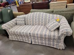 Lazyboy white\/Blue Stripe Sofa