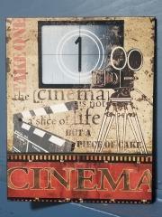 Wooden Cinema Sign