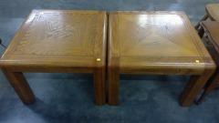 Square Design Oak Coffee Table