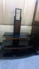Black 3 Shelf Tv Stand