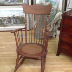 Pressed Back Vintage Rocker AS IS - COLLECTIBLES