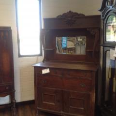 Antique Buffet w\/ Mirror Deck - COLLECTIBLES