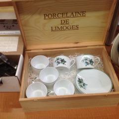 Limoges 6 piece Cup & Saucer set w\/box - COLLECTIBLES