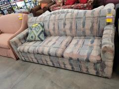 Knubby Plaid Sleeper Sofa