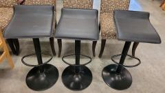 3 Black Adjustable Stools