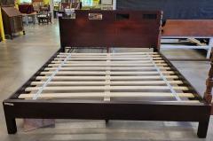 Cherry Finish King Platform Bed
