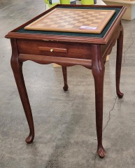 Queen Anne Style Game Table