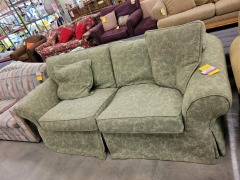 Green Slipcovered Sofa