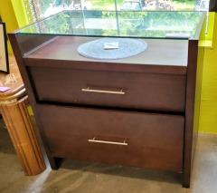 Glass Top Buffet \/ 2 drawers