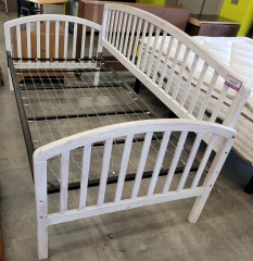 white washed Trundle Bed