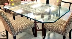 Glass Table\/Wooden base