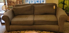 Gray Curved Microfiber Sofa