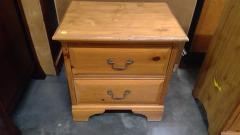 Oak 2 Drawer Nightstand