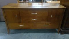 Oak Chest of 4 Drawers\/w 2 Storage Cabinets