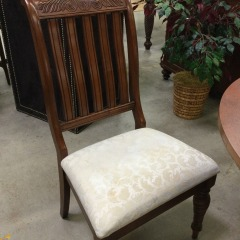 Carved Wooden Side Chair - GENTLY USED FURNITURE