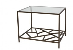 NEW Cracked Ice End Table