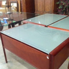 Glass Topped Desk - OFFICE FURNITURE