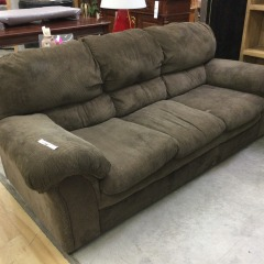 Brown Texture Weave Sofa (AS IS) - GENTLY USED FURNITURE