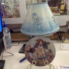 Decorative Lamp w\/Plate Stand Base - COLLECTIBLES