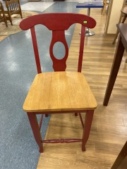 Red\/Wood Chair