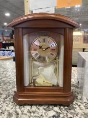 Bulova B1848 Nordale Clock Walnut Finish