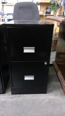 2 drawer black filing cabinet (no Keys)