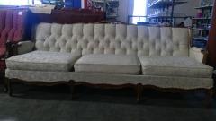 Vintage Ivory Sofa