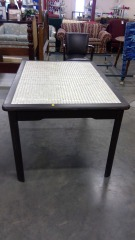 Rectangle Design Table\/w Beige Marble Top