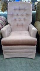 Mauve Accent Design Chair