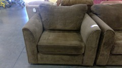 Taupe Suede Comfort Chair