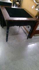 Black Velvet Top Square Table