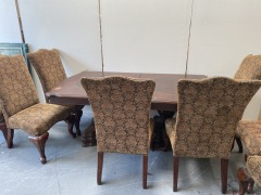 GENTLY USED Dining Table With Chairs