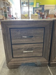 Rozzer 2 - Drawer Nightstand in Washed Taupe