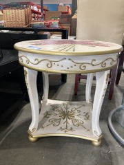 Painted Tree End Table