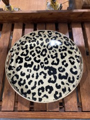 Quiles Leopard Ottoman\/Coffee Table Tray